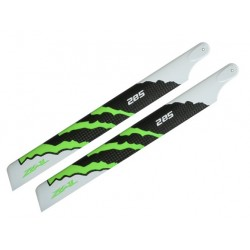 ZEAL Carbon Fiber Main Blades 285mm Energy Green