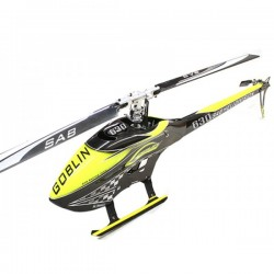 SAB Goblin 630 Competition Carbon Yellow Kit Blades & UPGRADES