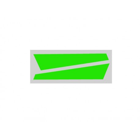 Vertical Fin Sticker Green