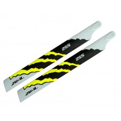 Move your mouse over image 	 Zeal Blades Carbon Fibre 255mm Energy Neon Yellow