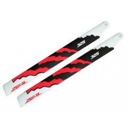 Zeal Blades Carbon Fibre 325mm Energy Neon Orange