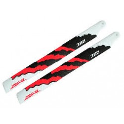Zeal Blades Carbon Fibre 360mm Energy Neon Orange