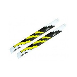 Zeal Blades Carbon Fibre 360mm Energy Neon Orange