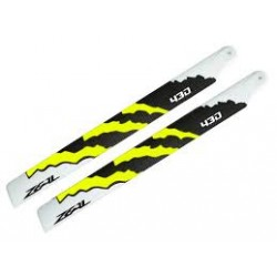 Zeal Blades Carbon Fibre 430mm Energy Neon Orange