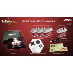MKS HBL950 / HBL980 DIGITAL SERVO BRUSHLESS COMBO (3x HBL950 + 1x HBL980)