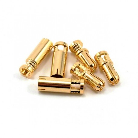 RCPROPLUS Supra-X 4mm Bullet Connector (10M,10F)