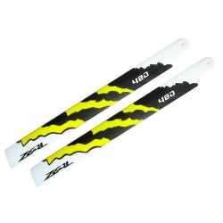 ZEAL Energy Carbon Fiber Main Blades 480mm (Yellow)