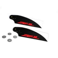ZEAL Carbon Fiber Tail Blades 62mm, Orange Logo