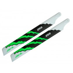 EAL Carbon Fiber main blade 255mm Green