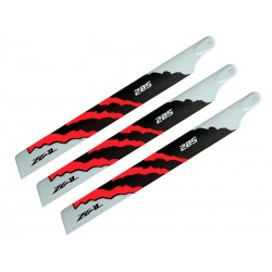 ZEAL ENERGY 3-Blade Carbon Fiber Main Blades 285mm Orange