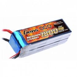 Gens ace 4s 1800mah lipo 14.8V 40C rc plane lipo batteries