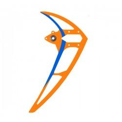 Vertical stabilizer neon-orange/blue, LOGO 550