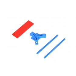 Antenna support flat mounting, blue