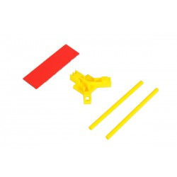 Antenna support flat mounting, yellow