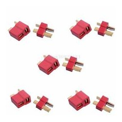 Deans Style T plug Antiskid Connector Male and Female 5 pairs
