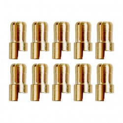 Gold connector | Ø6,0mm | 10 plugs