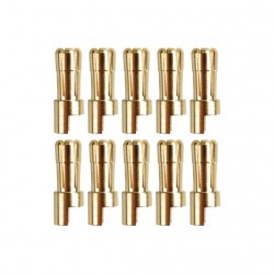 Gold connector | Ø5,5mm | 10 plugs