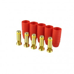 Gold connector | AS150 | Ø7,0mm | anti spark | 5 plugs | red housing