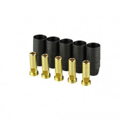 Gold connector | AS150 | Ø7,0mm | 5 plugs | black housing