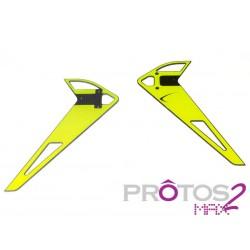 Vertical fin sticker - Neon Yellow