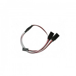 Futaba Straight Y lead 22AWG 300mm