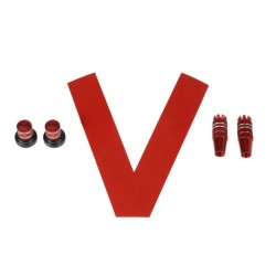 Stick/Knob-Set metallic red