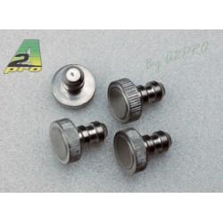 Tapon aluminio tubo silicona (4 piezas)