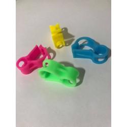 Pinzas cierre tubo silicona (4 piezas)