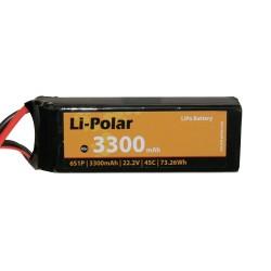 Li-Polar 6S1P 22,2V 3300mAh 30C DEAN