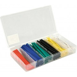 HEAT SHRINKABLE TUBING BOX COLOURED 1,5/2,5/4/6/10/13X100MM 100 PIECES