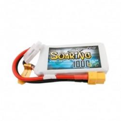 Soaring 1000mAh 7.4V 30C 2S1P Lipo Battery Pack with XT60 Plug