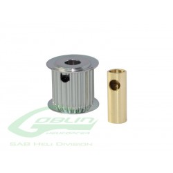 Aluminum Motor Pulley 23T (for 6/8mm motor shaft